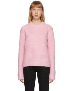 粉色珠皮呢毛衣