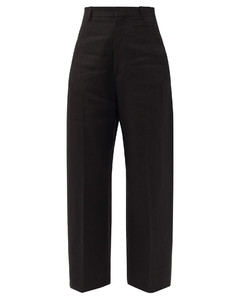 Santon high-rise cropped wide-leg trousers