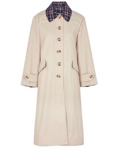 Glenda stone brushed-twill trench coat