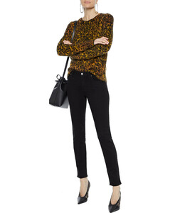 Woman Distressed Mid-rise Skinny Jeans