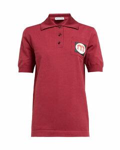 Logo-patch technical-knit polo shirt
