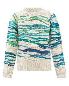Serene marbled-stripe wool-blend sweater