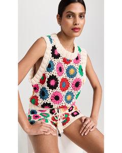 Polka Dot Mini Dress in White