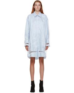 蓝色衬衫连衣裙