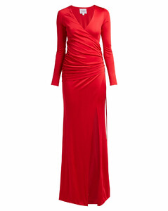 Allegra ruched-side jersey gown