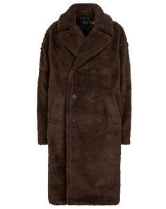 Agata人造羊毛皮大廓形大衣