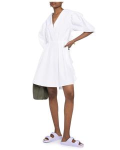wrap cotton smock dress