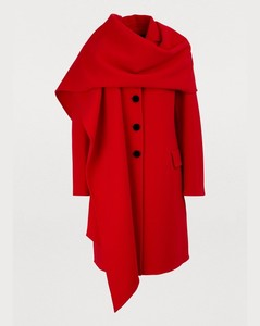 Coat with hood-scarf