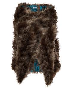 Faux fur shawl