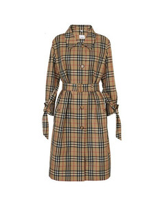 Vintage Check Recycled Polyester Car Coat