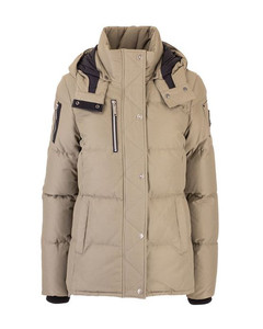 WOMEN'S M30LJ172N863 BEIGE COTTON DOWN JACKET