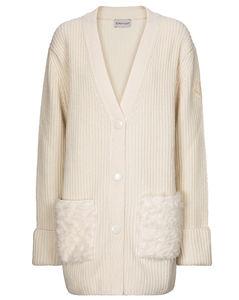 人造皮草、羊毛和羊绒开衫