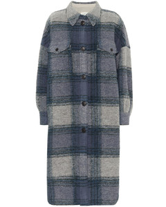 Gabrion checked wool-blend coat