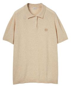 大廓型羊绒凸纹polo衫