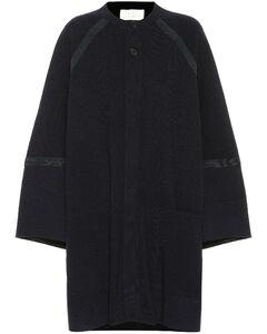 羊毛羊绒混纺大廓形大衣