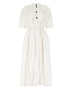 黄褐色九分阔腿长裤
