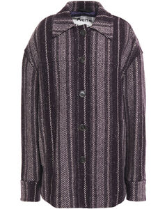 Woman Wool-blend Jacquard Coat