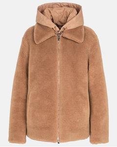 正反两穿羊毛皮羊绒丝绸夹克