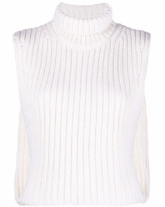 Feather-trimmed cashmere minidress
