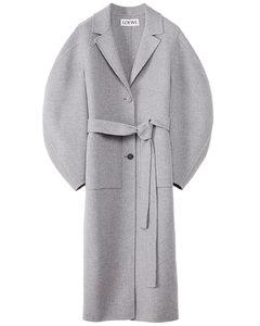 Circular sleeve coat in wool a...