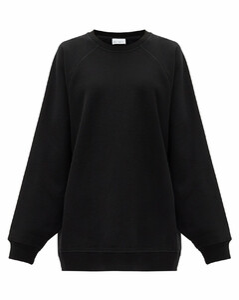 Recycled-yarn cotton-blend sweatshirt