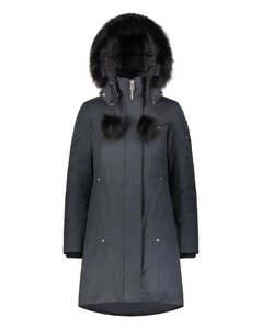 Stirling Parka Womens Navy with black fur