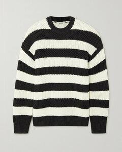 Oversized Striped Merino Wool Sweater