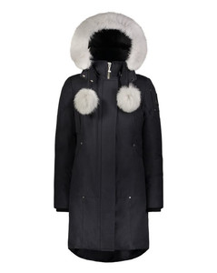 Stirling Parka Ladies Blue with white fur