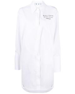 logo-embroidered shirt dress