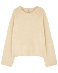 Cream alpaca-blend jumper