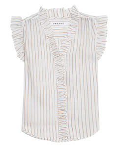 Luka turn-up cuff twill cropped-leg trousers