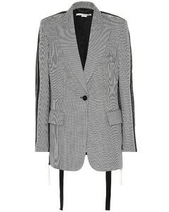 羊毛悬垂系带西装式外套
