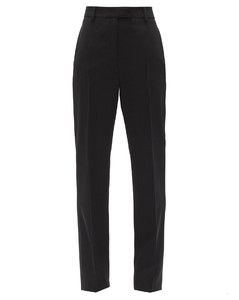 High-rise wool gabardine trousers
