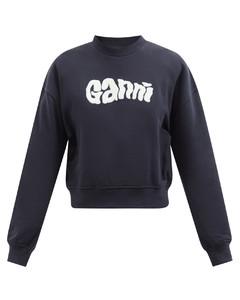 Oversized cotton-blend jersey sweatshirt