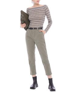 Metallic striped knitted sweater