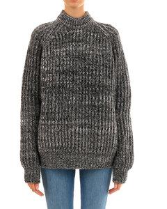 高腰羊毛格纹修身裤子