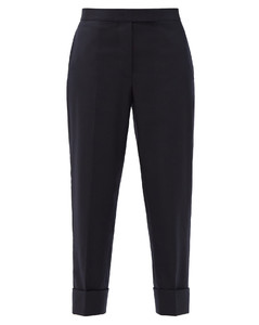 Tailored wool straight-leg trousers