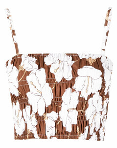 Coated-overlay broderie-anglaise coat