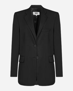 Oversized wool-blend blazer