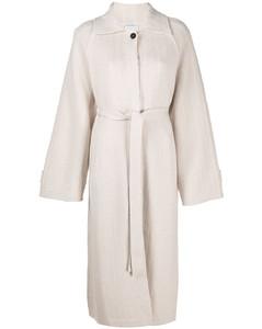 Balmacaan cashmere coat