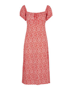 Diagonal striped print silk shirt