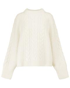 Gloria绞花针织羊毛与羊驼毛混纺毛衣
