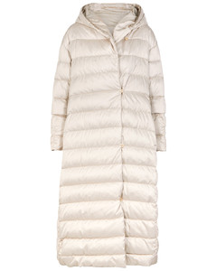 THE CUBE Novelo ivory quilted shell coat