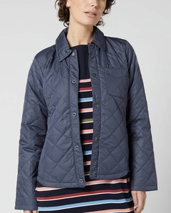 Women's Blue Caps Quilted Jacket - Summer Navy