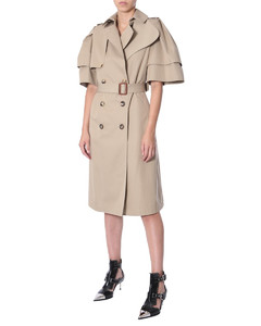FRILL SLEEVED TRENCH