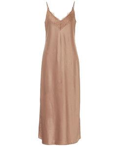 Leisure Vera satin slip dress