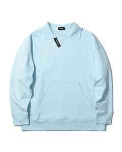 Logo patch polo sweatshirt