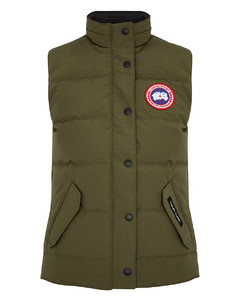 Freestyle army green quilted shell gilet