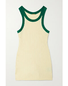 Cliff Two-tone Ribbed-knit Tank