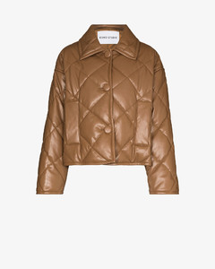 Jacey faux leather quilted jacket